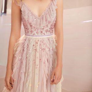 NEEDLE & THREAD Rainbow Midi Dress